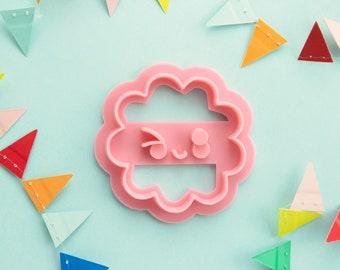 Kawaii wink cookie cutter | Kimilu logo biscuit cutter | 3D printed | Clay cutter | Fondant cutter