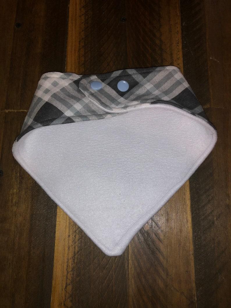 Plaid bandana bib baby shower gift baby drool baby