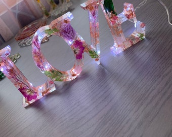 housewarming gifts home decor customised love sign handmade ornaments personalised love sign Handmade love resin