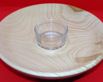 Chip n Dip, Large Ash Platter, Fruit Bowl, Sustainable Welsh Wood, Party Bowl