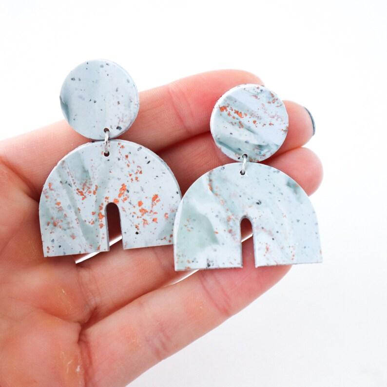 statement Handmade polymer clay earrings handmade lightweight hypoallergenic
