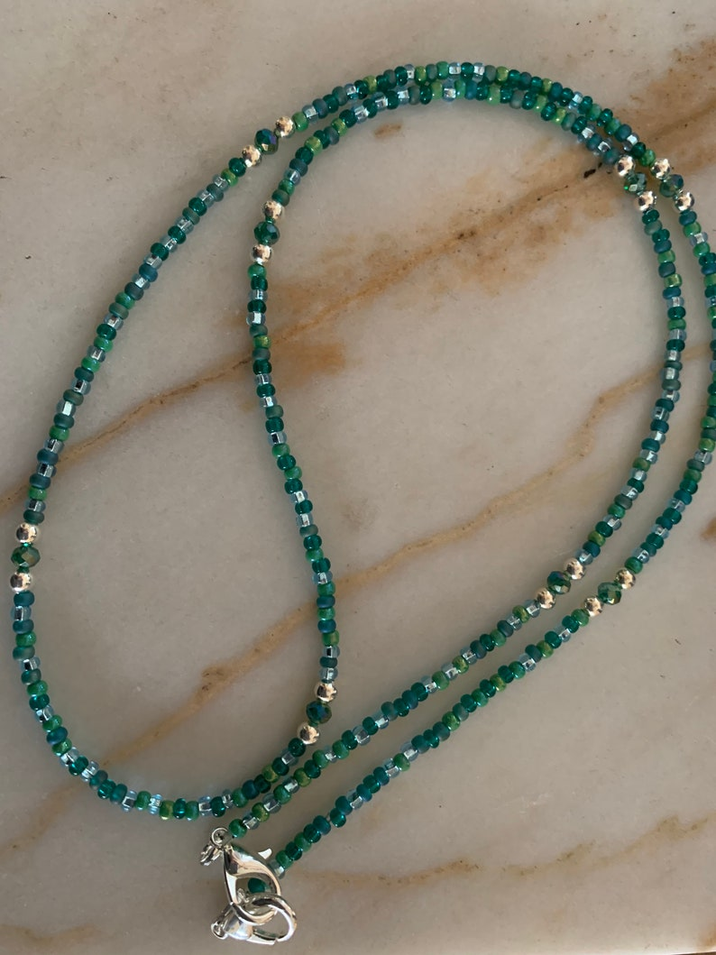 Face Mask Style Glass /& Crystal Beads with Lobster Clasp Multiple Color Options Available Mermaid Beaded Mask ChainNecklaceBracelet