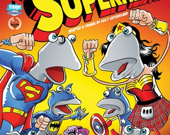 Scottish Falsetto Socks Superheroes Comic