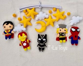 mother/'s day gifts baby nursery decor baby mobile decor nursery bending nursery mobile Black Panther Iron Man Spiderman Hulk Captain America