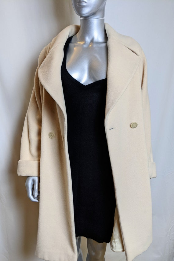 90s Byblos cream wool coat