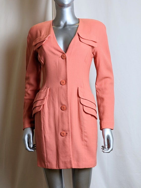 Vintage Fendi coral buttoned dress