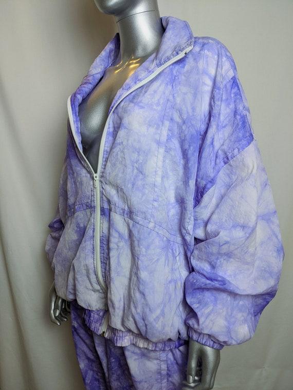 True vintage tie dye lilac 1980s  tracksuit