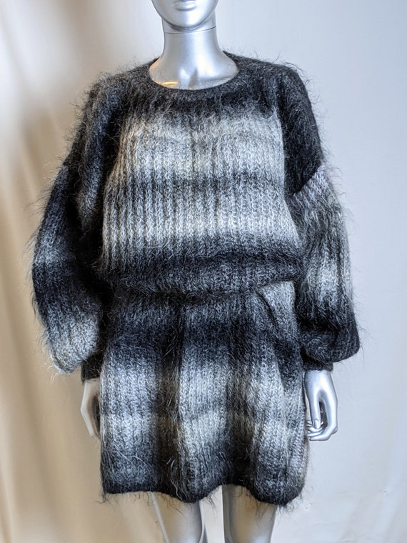 vintage hand knitted mohair jumper dress
