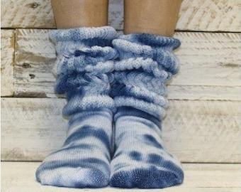 Wisperwood Tie-Dye Unisex ScrunchSlouch Socks Free Shipping within the U.S.