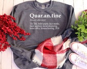 Quarantine Definition Shirt, Quarantine Sweatshirt, 2020 Shirt, Popular Sweatshirts, Gifts for Women, Funny 2020 Gifts, Winter Sweatshirts