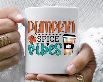 Pumpkin Spice Vibes Mug, Pumpkin Spice Mug, Fall Mug, Best Friend Gift, Gift for Women, Coffee Lover Gift, Gift for Her, Pumpkin Spice Lover