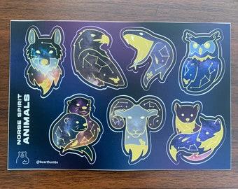 Norse Spirit Animals Sticker Set