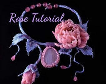 DIY of beaded rose 3d Tutorial a makin rose flower Beaded flower tutorial Master class on beading Flower's patterns Unusual beadwork2 option
