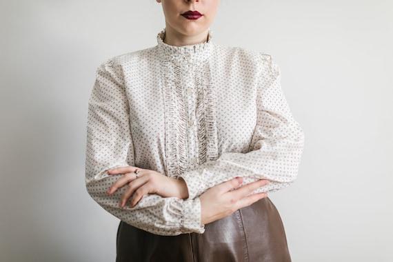 Vintage cotton blouse with laces Alpen Tracht Aust