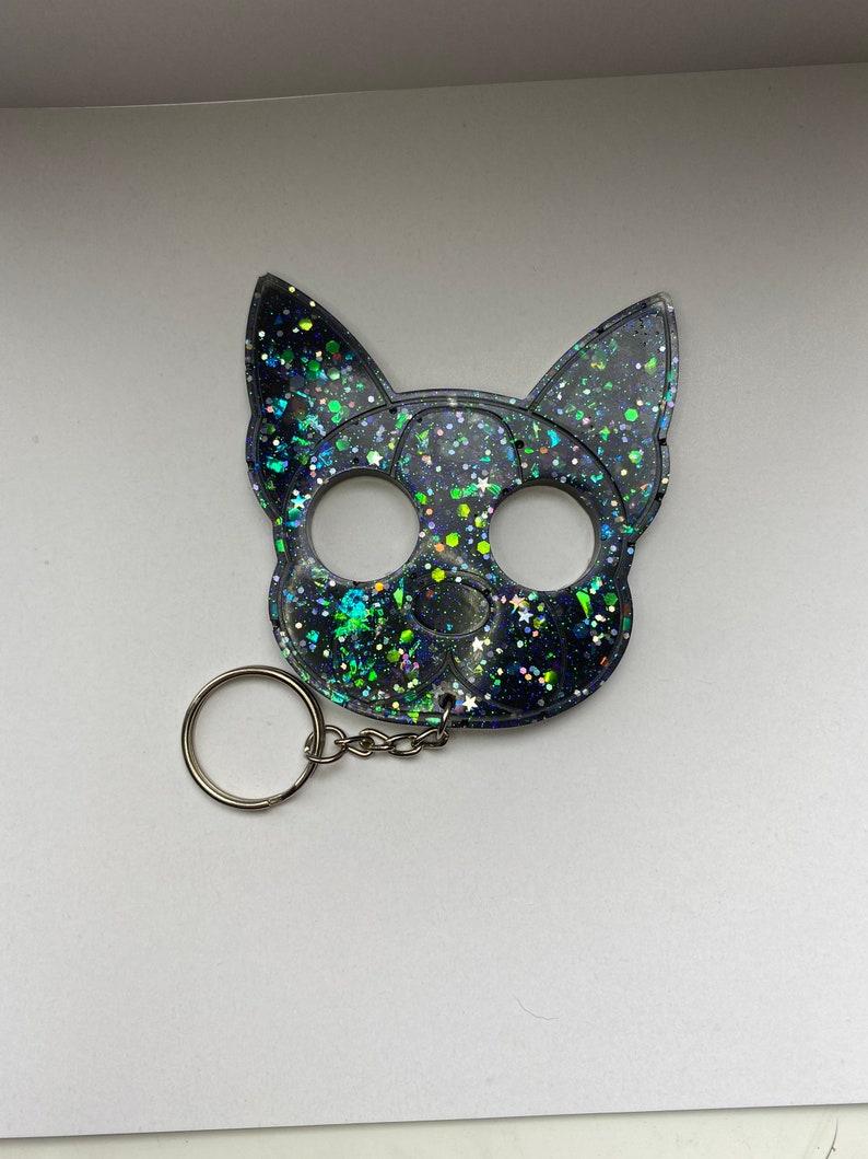 Holographic keyring woman\u2019s gift keyring men\u2019s gift bag charm keychain,
