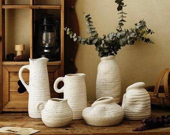 Imperfect Collection Ceramic Wabisabi Vases,Minimalism Decor,Handmade Irregular shape vase,plant pot, Rustic Flower vases