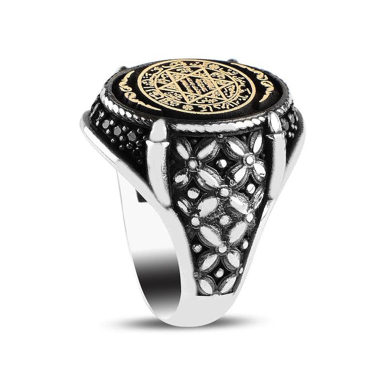 Solomon Ring King Solomon Ring exclusive ring zircon stone, 925 Sterling Silver Satr Of David