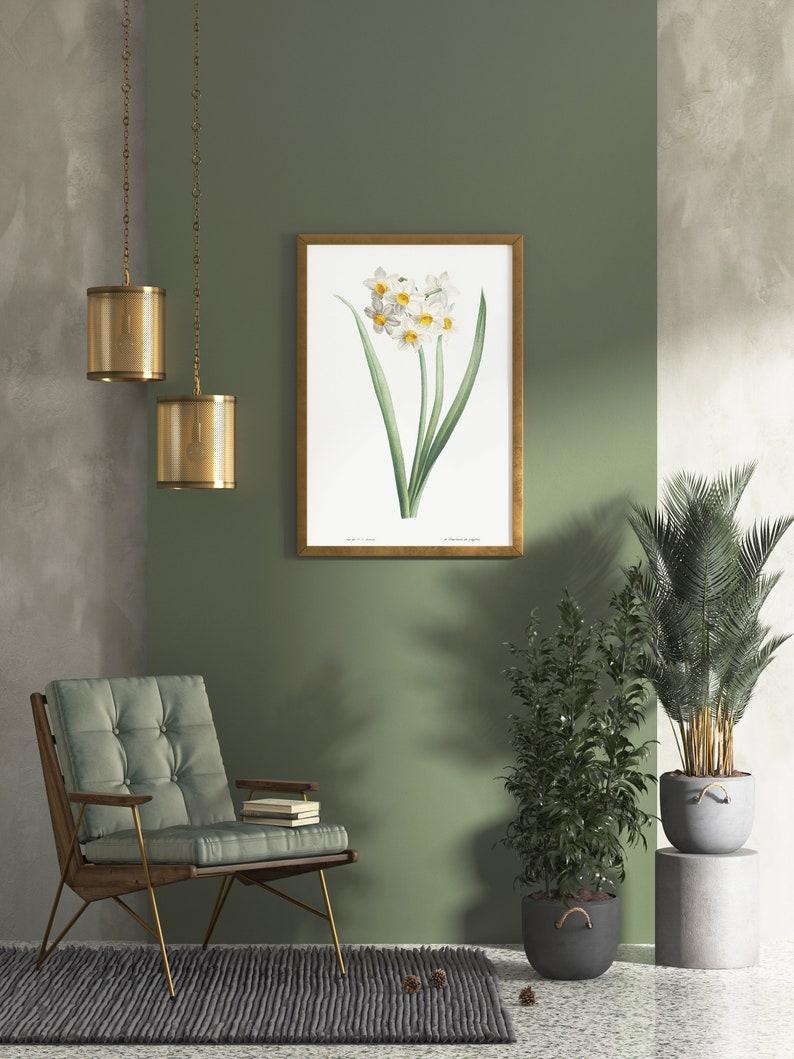 Flowery Decor botanical art print spring flower print botanical ephemera housewarming poster flower wall art