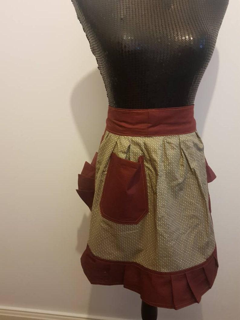 Vintage Style Half Apron  Pinny
