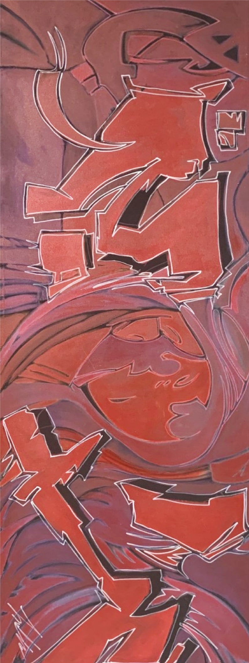 Thieves is an original abstract painting by Alias Kane modern contemporary art urban street