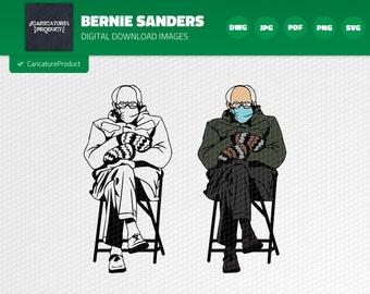 Vinyl Cricut The Mittens The Legend SVG Bernie Sanders face mask SVG Bernie Sanders Mittens Meme Sitting Wearing Mask SVG The Man
