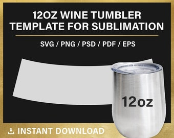 wine tumbler template