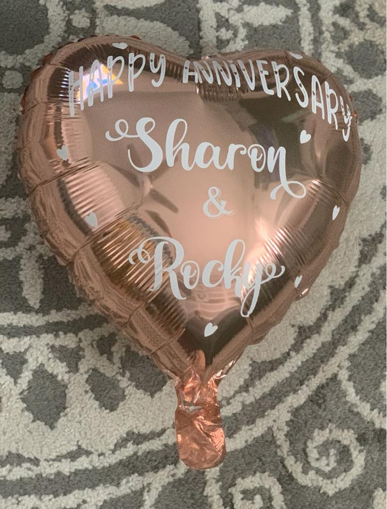 Custom Balloon Birthday Party Favors Anniversary Wedding Rose Gold Party Favors Celebrate