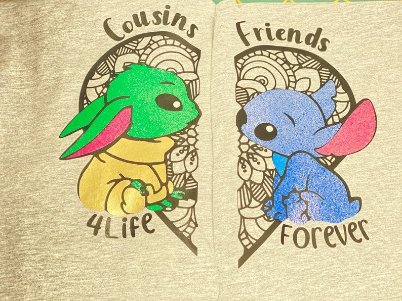 Baby Yoda Baby Stitch Stitch /& Baby Yoda T-Shirt T-Shirt