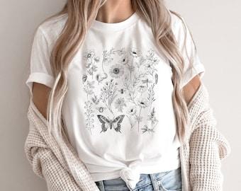Wildflower Shirt, Wild Flower Shirt, Flower Shirt, Floral T-Shirt, Nature Shirt, Wildflower T-Shirt, Botanical Shirt, Boho Plant Shirt