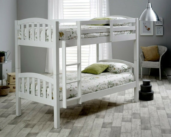 Mayflower Solid Wood White Bunk Bed Etsy