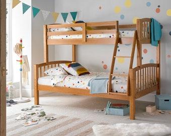 Mayflower Pine Triple Sleeper Solid Wood Pine Bunk Bed