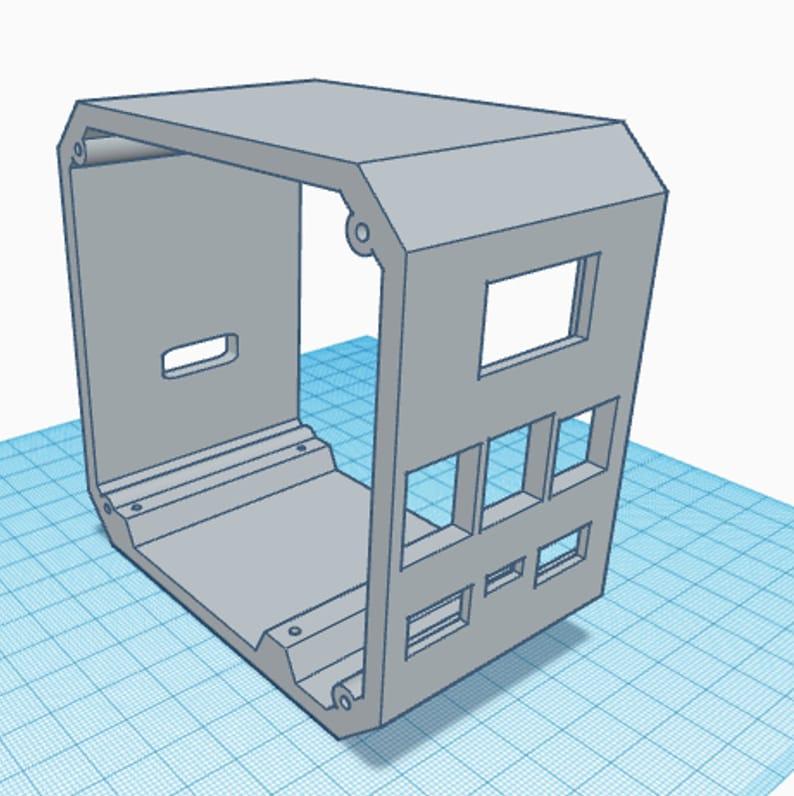 Raspberry Pi 4B UPS Server Case  3D Print Files image 0