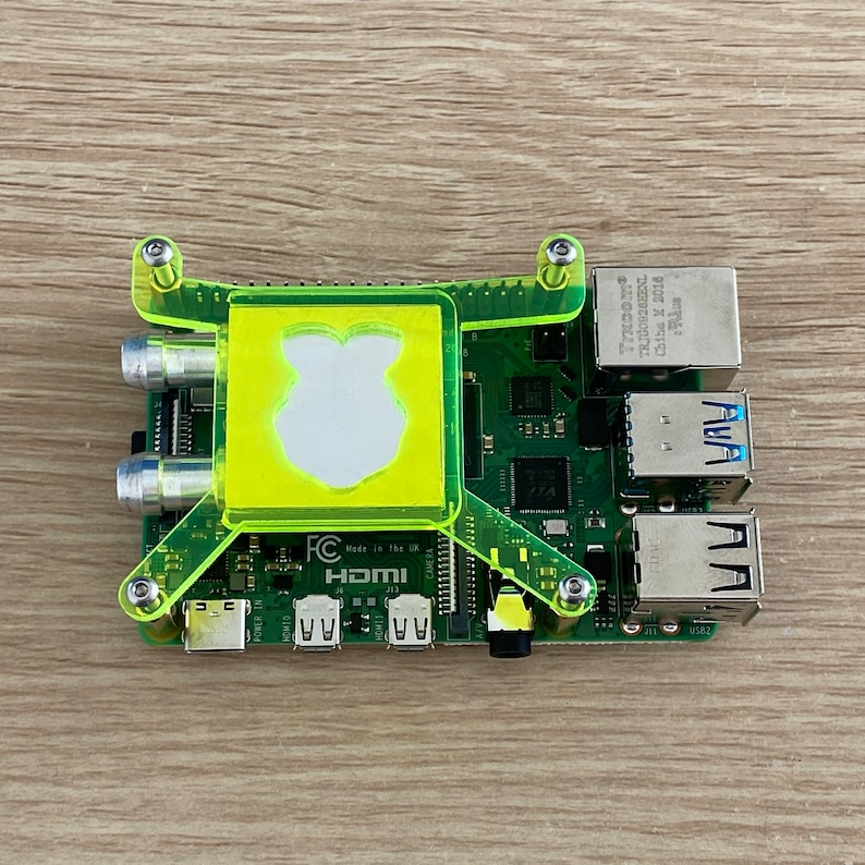 Green Water Cooling Block Kit For Raspberry Pi 4 image 0