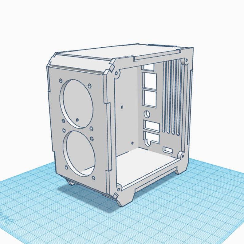 Plywood Raspberry Pi 4B Case  Laser Cutting Files image 1