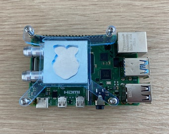 Blue Water Cooling Block Kit For Raspberry Pi 4