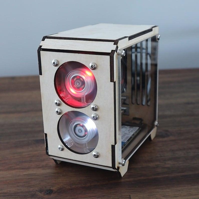 Raspberry Pi 4B Plywood DIY Case image 1