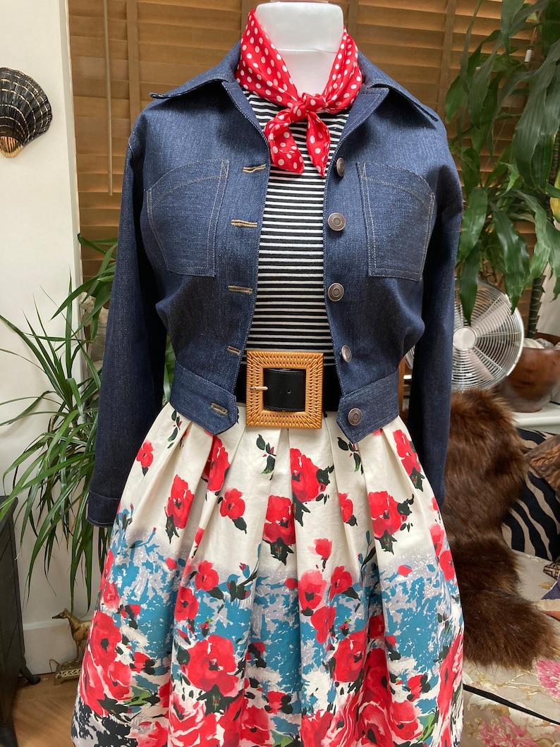 1950s Coats and Jackets History     Vintage Style Denim Jacket 1940s 1950s jacketPinup/Rockabilly $109.71 AT vintagedancer.com