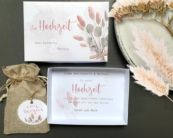 Money gift wedding as personalized gift box