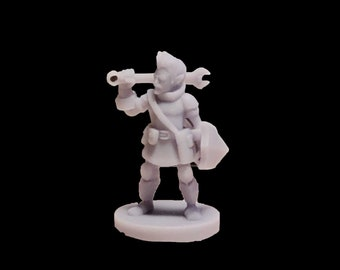Gnome Battlesmith Artificer Dungeons and Dragons miniature