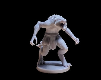 Werewolf Dungeons and Dragons miniature 40mm