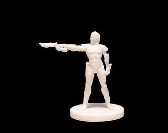 Drow with Hand Crossbow and Sword Dungeons and Dragons miniature 30mm
