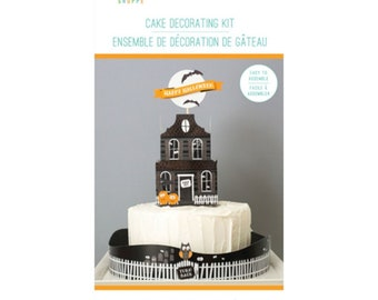Celebration Shoppe Halloween Cake Decorating Kit - Haunted House Cake Topper - 19 Pieces