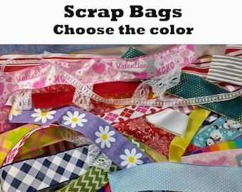 SCRAP BAGS - Random Selection of Ribbon, Lace, Deco Mesh, Trim, etc. 25 Pieces / Scrap Grab Bag