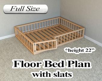 Montessori Bed Plan Etsy