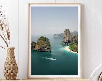Thailand Giclée Art Print - Travel Photography Poster Wall Art, Krabi Phuket Phi Phi South Asia Tropical Islands, Frida Berg Photographer