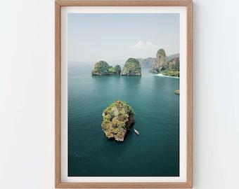 Thailand Giclée Art Print - Travel Photography Poster Wall, Krabi Phuket Phi Phi South Thai Asia Tropical Islands, Frida Berg Photographer