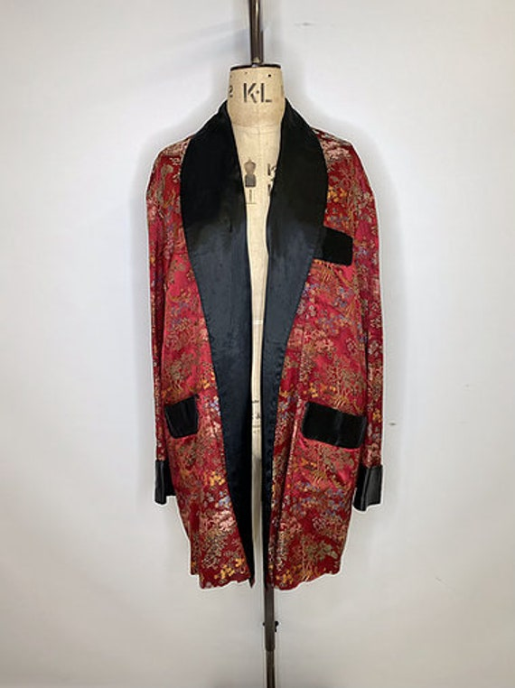 80's Vintage Oriental Smoking Jacket