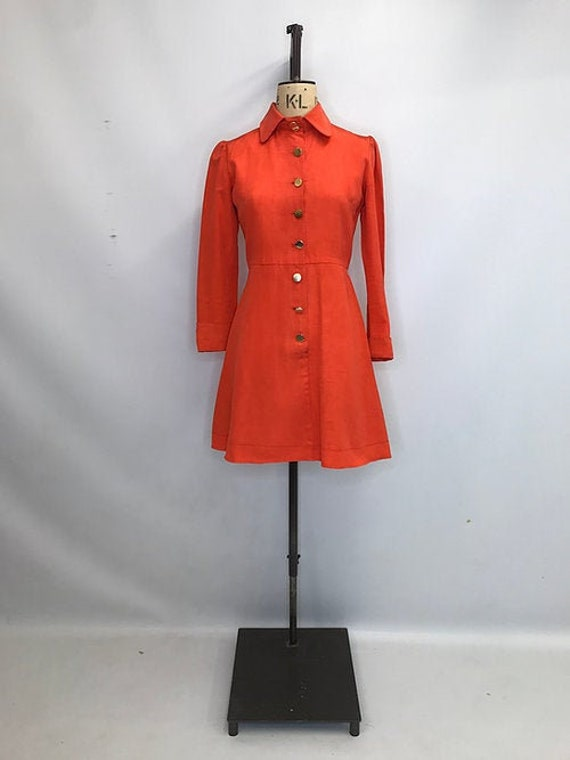 60's Vintage Dolly Day Mini Dress
