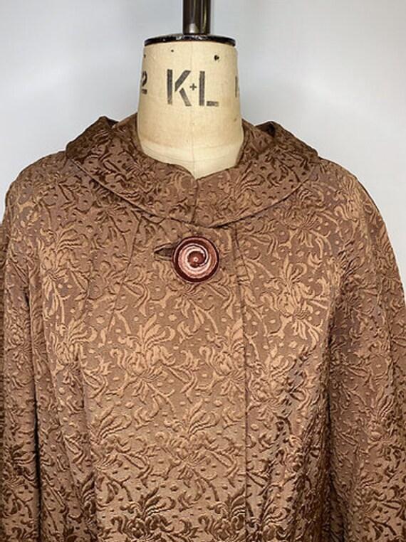 50's Vintage Brocade Evening Coat