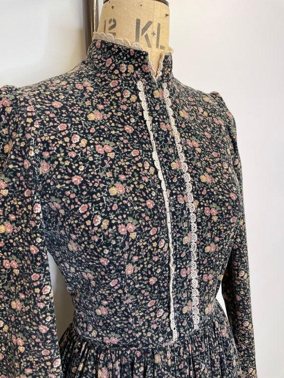 70's Floral Victoriana Prairie Dress